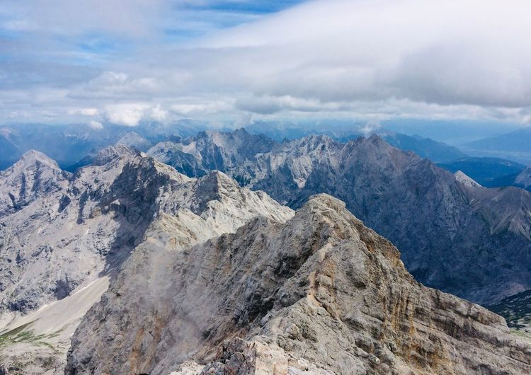 Zugspitze, 2962 Meters, Germany First Eyeem Photo Mountain Beauty In Nature Cloud - Sky Sky Tranquil Scene Mountain Range Tranquility Scenics - Nature Environment Landscape Non-urban Scene Mountain Peak