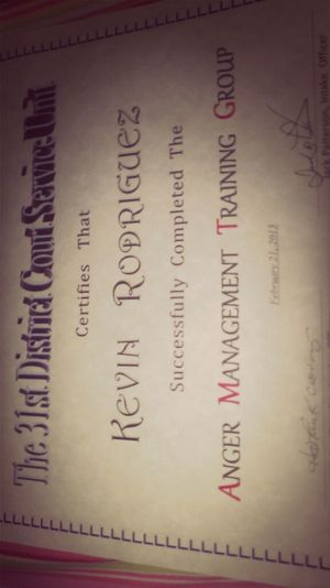 #angermanagement #certificate (: