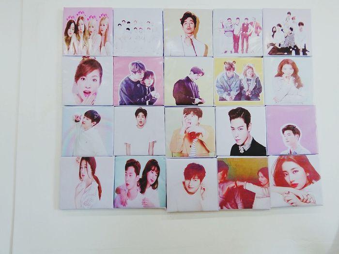 Korean artists wall post Korean Korean Artist Celebrity Artists Close-up Human Representation Female Likeness Male Likeness