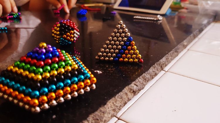 bucky ball Art And Craft BUCKYBALL Gem-like Ball ArtWork ArtInMyLife Art is Everywhere EyeEm Selects Multi Colored Low Section Close-up