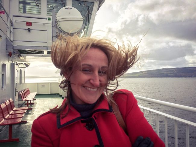 One Person Windy Hair Looking At Camera Smiling Happiness Leisure Activity Lifestyles Nautical Vessel Water Outdoors Close-up Live For The Story