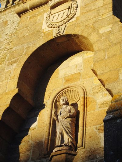 St Briac ✨ Church Architecture Art And Craft Sculpture Human Representation Built Structure Low Angle View Statue Religion History Place Of Worship No People Building Exterior