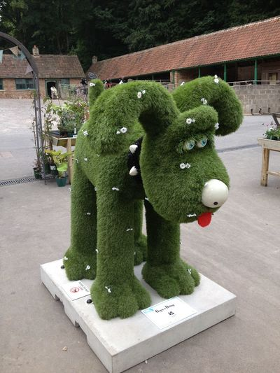 Animal Representation Close Up Colorful Creativity Formal Garden Garden Green Color Gromit Gromit Unleashed Hedge High Angle View Nationaltrust Organic Statue Toy Wallace And Gromit