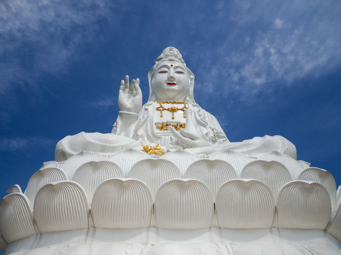 Architecture Guanyin Statue Nature Statue Temples Building Built Structure Cloud - Sky Guanyin Guanyin Budha Guanyin Temple Human Representation Photographer Photography Sky Temple Temple - Building Temple Architecture Temple In Thailand Temple Thailand Templephotography Travel Thailand Travel Thailand Temple Buddha Style