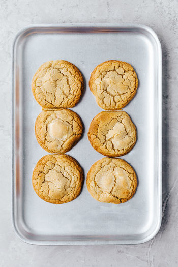 Directly above shot of cookies