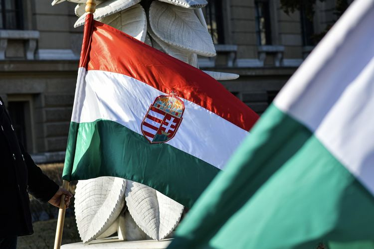 Close-up of hungarian flag
