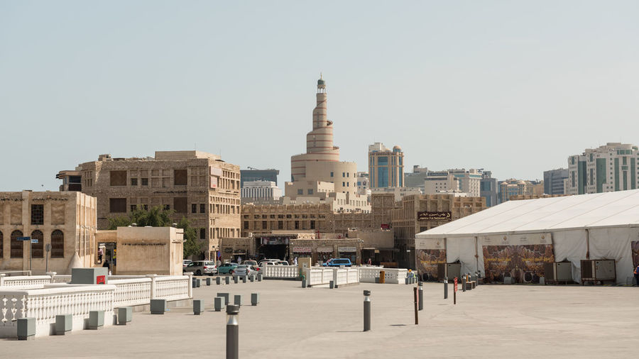 Traditional market - Souq Wakif, Doha, Qatar Doha Souq Waqif Architecture Building Exterior Built Structure City Clear Sky Day History No People Outdoors Qatar Sky Travel Destinations