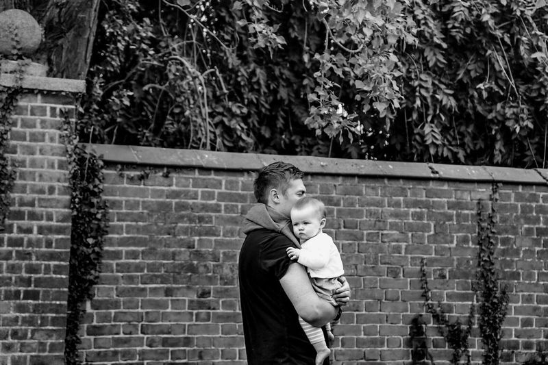 Father Daughter Babygirl Love Protection Beautiful Brick Wall Background Protector Protection Always And Forever Keeping Safe Beautiful Moments Capture The Moment In My Heart Husband ♡ My Daughter Love ♥ Secure Happiness Special👌shot Blackandwhite Photography Capturing The Moment Daddyslittlegirl