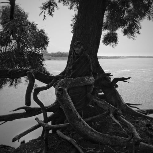 Ethiopia African Omovalley Daasanach Nature Landscape Tree Nature Water Outdoors Tree Trunk Symbiosis Africa first eyeem photo EyeEmNewHere Black And White Friday