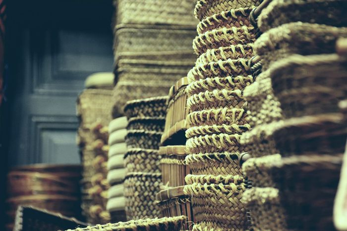 Wicker basket Close-up In A Row Large Group Of Objects Choice Wicker Wickerwork Wicker Basket Market Cultures Backgrounds No People Outdoors Day EyeEmNewHere