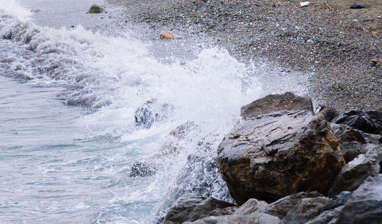 Sea Rocks Sand Beach Waves Wave Sea Spray Splash Reef