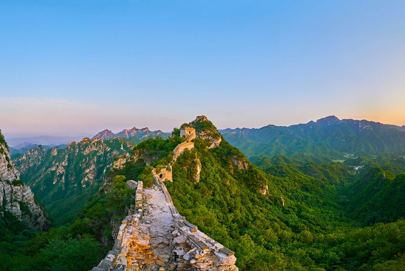 the Great Wall travel Architecture Beauty In Nature Beijing Beijing China Beijing Scenes Beijing Trip Brick Brick Wall China China Beauty China Photos China View East Asia Famous Place Fortress Great Wall Great Wall Of China Landscape Mountain No People Oriental Outdoors Scenics Sunrise Travel Destinations