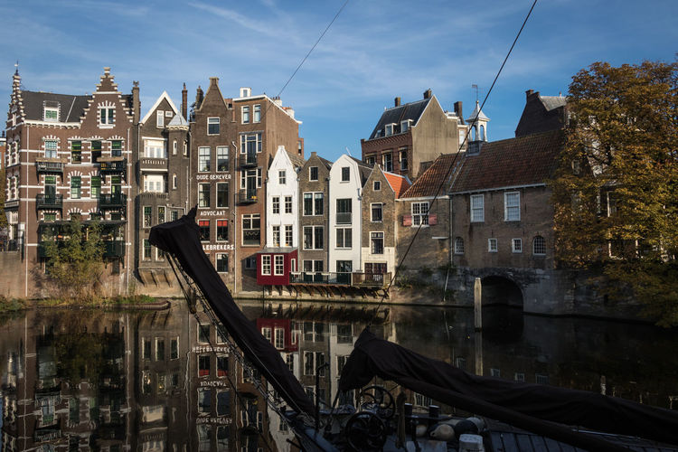 Delfshaven, Rotterdam Rotterdam Holland Netherlands Architecture Built Structure Building Exterior Building Sky City Transportation No People Outdoors Water Mode Of Transportation Cloud - Sky Delfshaven Residential District Day Window Canal Row House