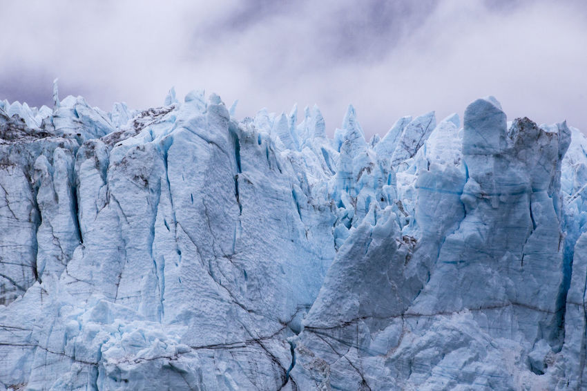 Close-up Look of the Grand Pacific Glacier in Glacier Bay National Park, Alaska Beauty In Nature Blue Cracks Crag Geology Glacier Glacier Bay National Park Grand Pacific Glacier Ice Nature Non-urban Scene Outdoors Physical Geography Remote Snow Texture Weather