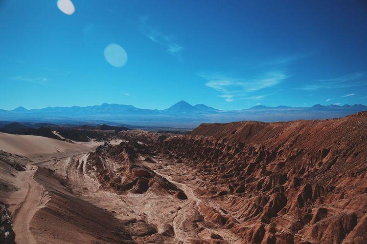 Idyllic shot of atacama desert against sky