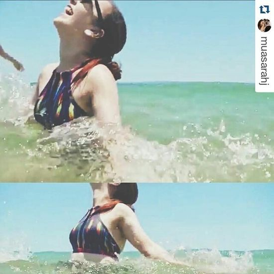 Repost from @muasarahj ・・・ Post photoshoot summertime fun 🌴☀️ video stills from a Blooper reel by @jkdimagery | http://youtu.be/LHukfwNaVbg | Muasarahj Summer Beach Swimming Bikini Swimwear Brisbane Brisbanemua Summerfun Holidays Beachwear Lifeisgood Lifestyle Makeupartistsworldwide Happygirl Fun Australia Bribiebeach