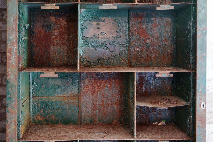 Old rusty metal door