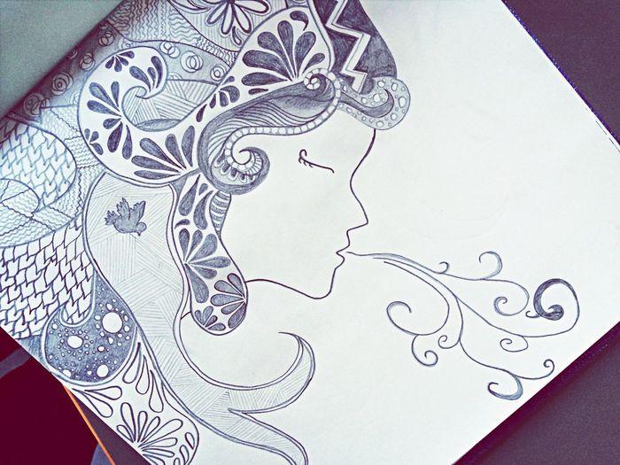 Just breath... Drawing My Artwork Girl Breathing