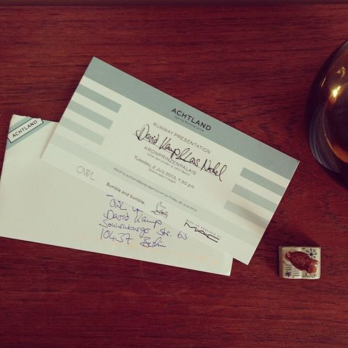 oh joy, today we received an lovely invite to the runway presentation of the lovely folks from #achtland. Achtland
