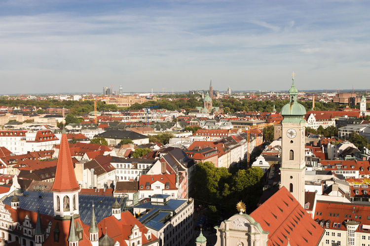view of munich from church Architecture Church City Cityscape Marienplatz Munich München Rooftop Sightseeing Travel Views Architecture Building City Cityscape Day High Angle View Outdoors Roof Sky Summer Tower TOWNSCAPE