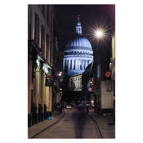 A Spectre steolls up Watling Street. Architecture Building Exterior Built Structure Travel Destinations City Night Outdoors No People Sky Street City Cityscape Photo24 Nightphotography Canonphotography Long Exposure London Canon Canon5dmarkiv Architecture BestEdits Urban Skyline Stpauls StPaulscathedral