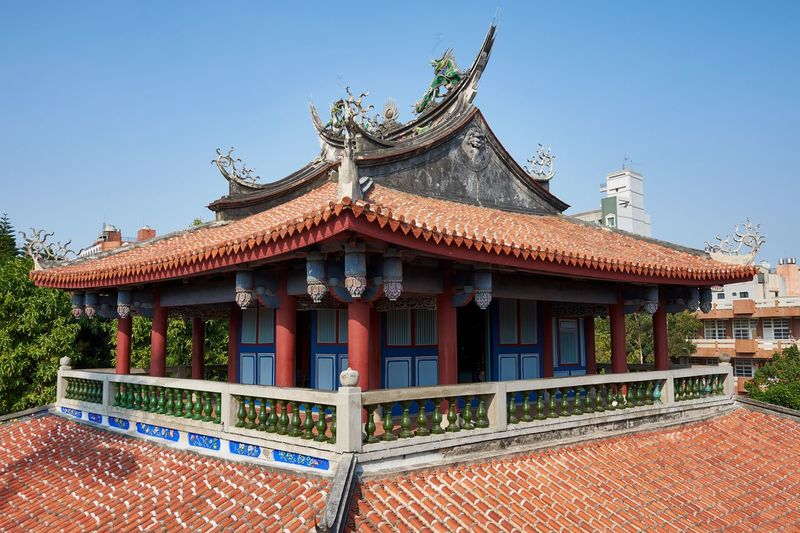 Fort Provintia, Tainan, Taiwan (April 2018) Fort Railing Eaves Roof Tiles Fort Provintia Traditional Chinese Style Historic Historical Building Chinese Taiwan Tainan Architecture Built Structure Building Exterior Building Sky Clear Sky Roof Travel Destinations No People Ornate