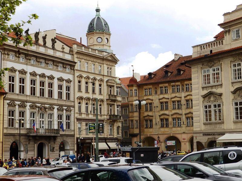 Old Town, Prague Architecture Building Building Exterior Built Structure Capital Cities  City City Life City Street Cloud Cloud - Sky Day Façade Land Vehicle Mode Of Transport Old Town Outdoors Parked Parking Prag Prague Religion Sky Stationary Tourism Travel Destinations