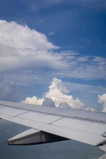 Airplane Cloud - Sky Air Vehicle Sky Aircraft Wing Mode Of Transportation Transportation Day No People Flying Travel Nature Beauty In Nature Scenics - Nature Outdoors Airport Public Transportation Motion Blue Mid-air Aerospace Industry