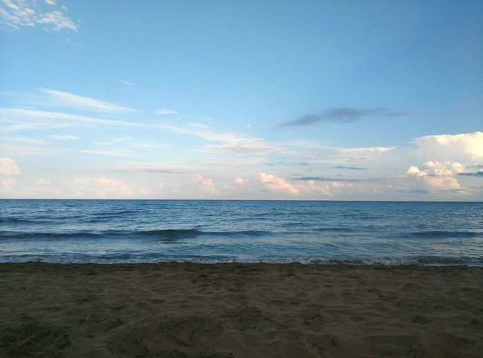 Sea Beach Sky Water Cloud - Sky Tranquility Scenics - Nature Horizon Over Water Tranquil Scene Nature Blue No People Sicily