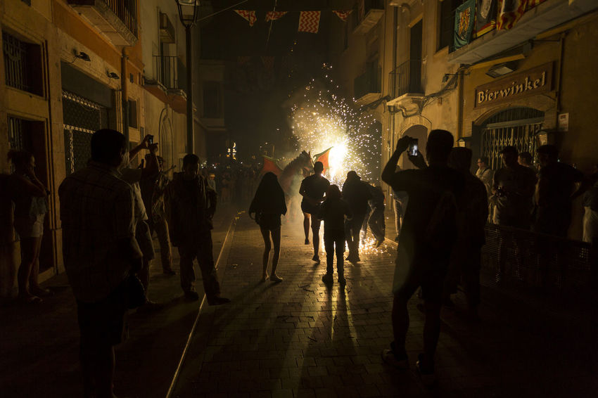 Besties a les festes de Sant Roc 2016 Besties Catalonia Catalunya Celebration City Culture Dragon Fire Firerun Firework - Man Made Object Fireworks Illuminated Lifestyles Light And Shadow Night Night Lights Nightphotography Outdoors Party Time! Sant Roc Street Traditional