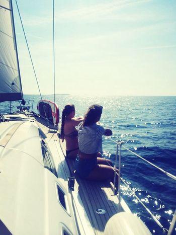 Sailing Sea Enjoying Life Friends