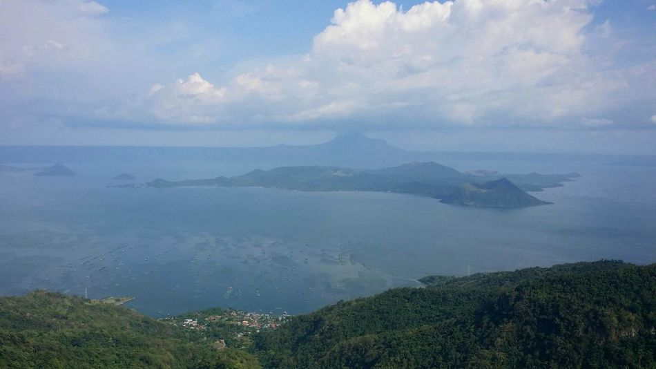 Taal Volcano of the Philippines Volcano Philippines EyeEmNewHere Lake Lake View Sea Cloud - Sky Landscape Outdoors No People Water Mountain Blue Nature Beauty Day Tree Sky Beauty In Nature