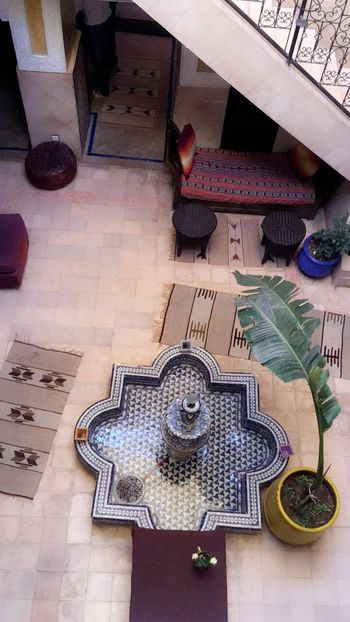 Architecture Art Is Everywhere ArtWork Beautiful Connected By Travel Beauty Place Day High Angle View Indoors  Marrakech Marrakech Morocco No People Table