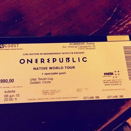 Can't wait! ☺ Onerepubilc Serbia Concert Ilived somethingineed stopandstare countingstars ifIlosemyselftonight