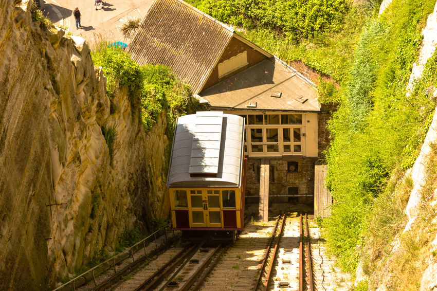 Architecture Building Exterior Built Structure Cable Car Day East Hill Railway Mode Of Transport No People Outdoors Railroad Track Steep Steep Hill Transportation Tree Victorian Railway Bridge View From Above Wooden Coach