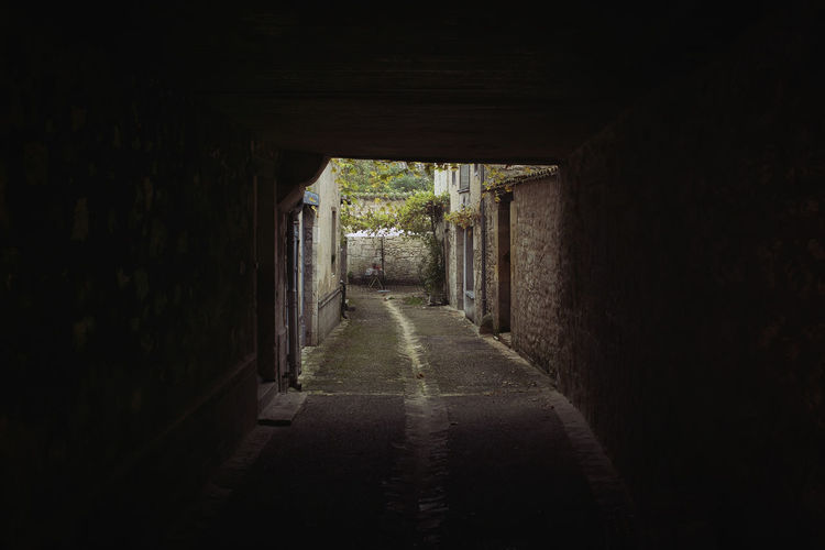 Direction The Way Forward Architecture Built Structure No People Nature Building Day Plant Tree Diminishing Perspective Empty Indoors  Arch Footpath Tunnel vanishing point Narrow Dark Alley Light At The End Of The Tunnel Long