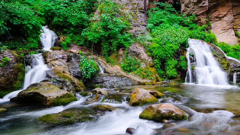 Taken at Big Springs in the Narrows at Zion National Park Flowing Green Color Long Exposure Lush Foliage Na National Pa Outdoors Power In Nature Rock - Object Stream The Narrows Uta Vacation Z Zion National Pa
