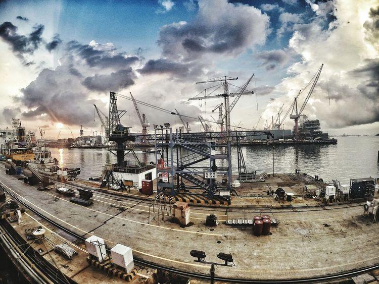 Sunrise Sun Clouds And Sky Clouds Sea Port Jetty Ship Goprohero4 Gopro First Eyeem Photo