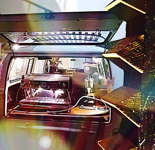 No People Coffee Bulli Vintage Car Coffemachine Night Lights Night Photography Mobile Coffee Coffe On Wheels Coffee At Night Rolling Coffee Coffee In The Truck Professional Coffeemachine Coffeemania Lens Flare Reflections Espresso Machine Italien Coffee VW Bus