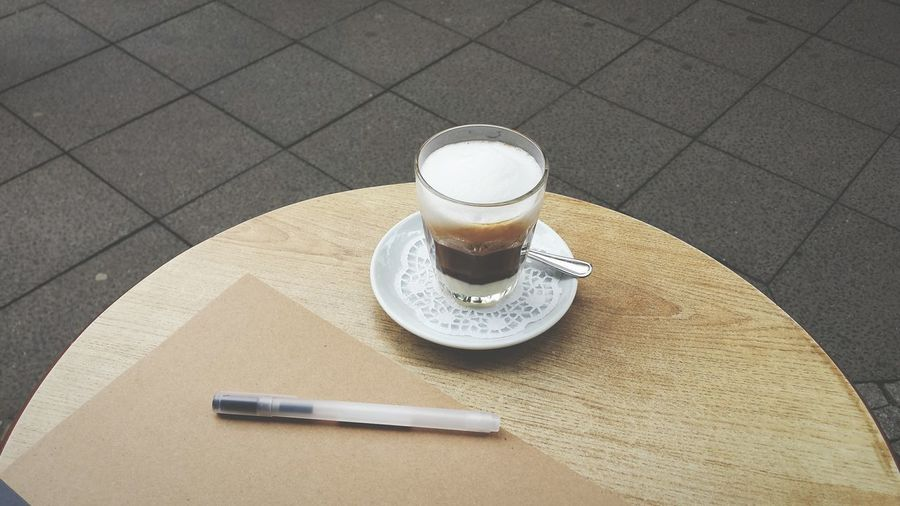 Relaxing Table Coffee Book Pen Writing Minimalism From My Point Of View My Favorite Place