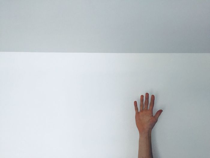 Minimalism Human Body Part Human Hand Hand Body Part One Person Copy Space Indoors  Wall - Building Feature The Minimalist - 2019 EyeEm Awards