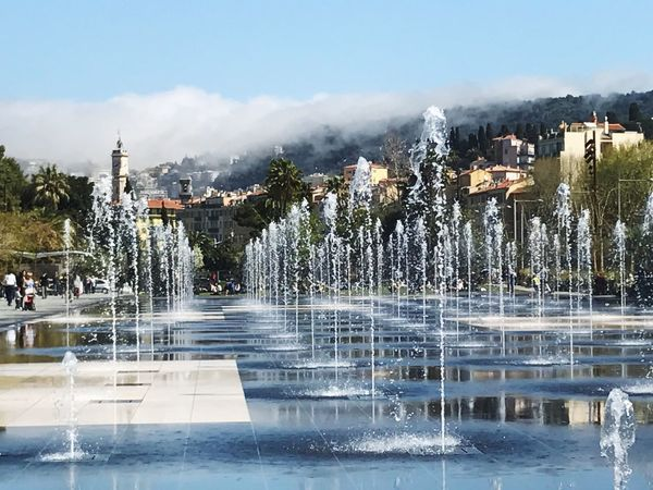 Nice France is a pretty place to be- full of warmth and happiness! Place one would totally want to settle for ! Apollo Fountains Water Architecture Building Exterior Tree Built Structure Outdoors Swimming Pool Day Sky Mountain No People Nature Cold Temperature Beauty In Nature Hot Spring