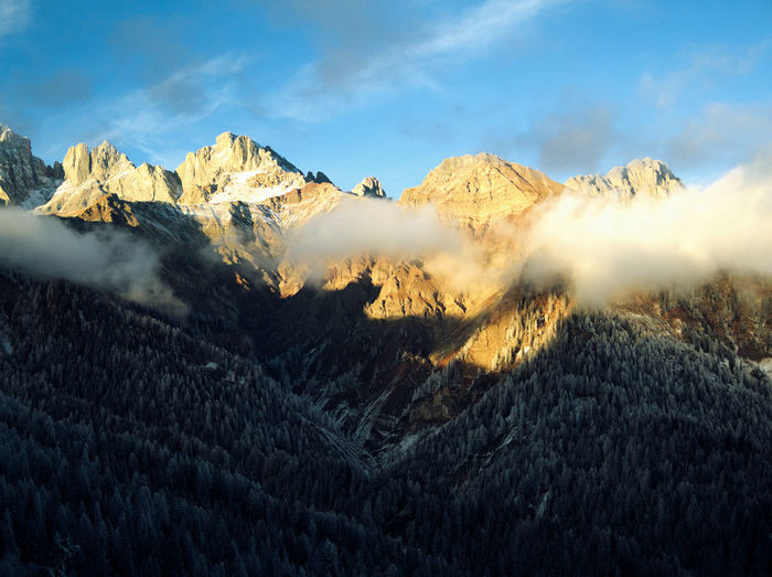 Mountains against sky