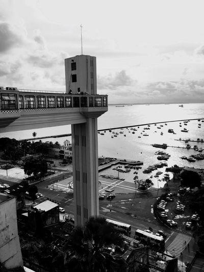 Elevador Lacerda Elevator Brazil Sky Water Architecture Built Structure Sea Building Exterior Cloud - Sky City Building No People Beach Transportation