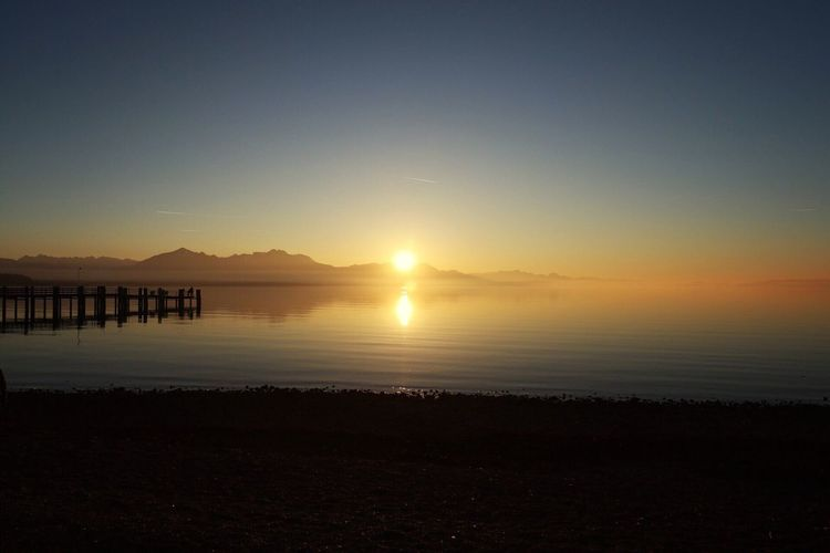 First day of 2017 Sunset Beauty In Nature Water Lake Chiemsee