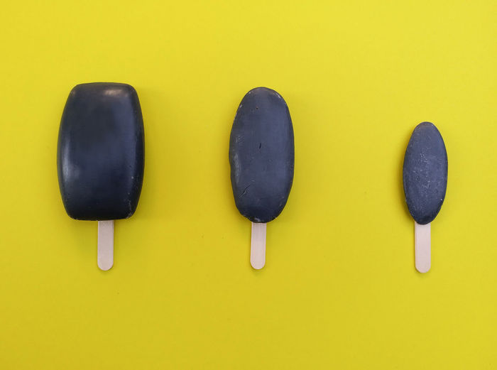 Soap Used Soap Soaps Reused Ice Cream Bar Art Studio Shot No People Smartphone Photography New Old Clean Yellow Background Bath Black Charcoal Charcoal Soap