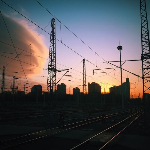 Sunset Railway Railway Station Train Station Transportation Clouds And Sky Beijing China Photos