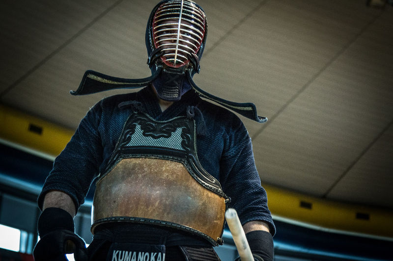 Kendo Fighter Kendo Shinai Warrior Fighter Human Body Part Indoors  Kendo Practice Kendosphotography Lifestyles One Person Real People Sport