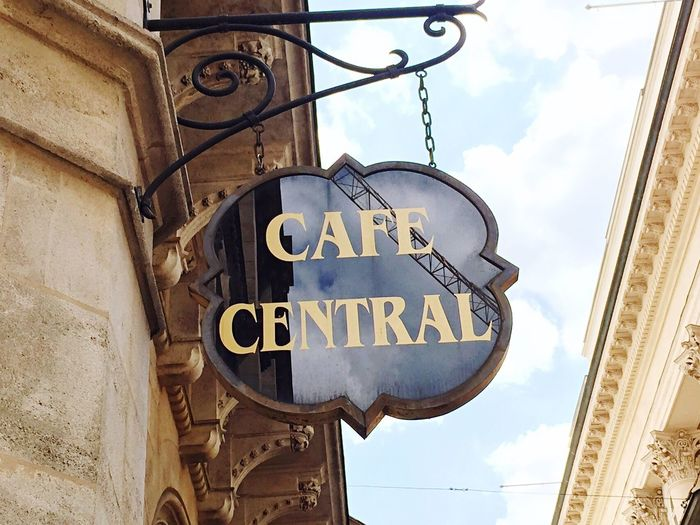 Text Cafe Cafe Central Austria Vienna