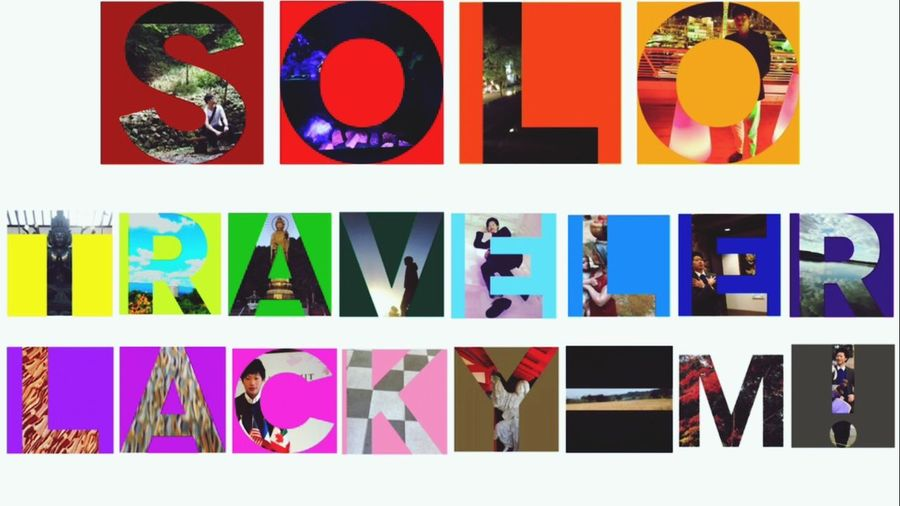 Solo Traveler. Travel Multi Colored Red Picture Frame Vibrant Color People